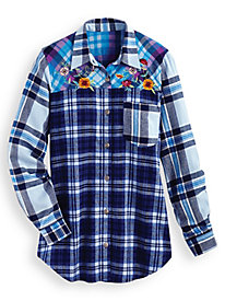 Flannel Colorblock Shirt