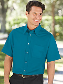 Irvine Park® Short Sleeve Broadcloth Dress Shirt