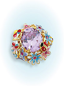 Lavender Floral Ring by Blair