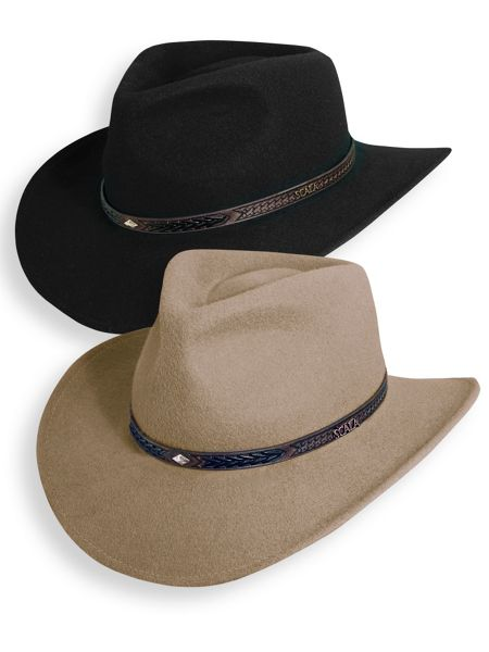 b2df7109 Scala Crushable Wool Outback Hat | Blair