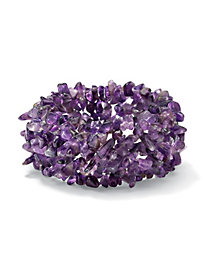 Expandable Amethyst Nugget Bracelet 7 in
