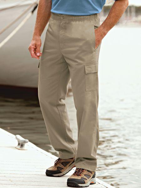 Scandia Woods Men's Cargo Pants with Elastic Waist | Blair