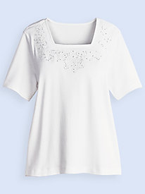 Endless Designs� Sparkle Knit Top