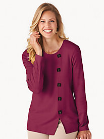 Button-Trim Top