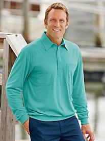 John Blair® Long Sleeve Banded Bottom Shirt