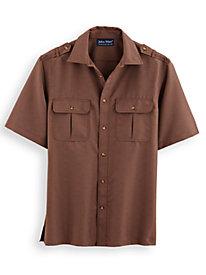 John Blair Linen Look Pilot Shirt