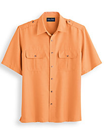 John Blair Linen Look Pilot Shirt