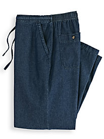 Denim Drawstring Pants