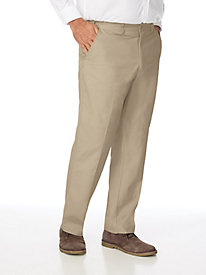 Adjust-A-Band Wrinkle Resistant Plain Front Chinos by Blair