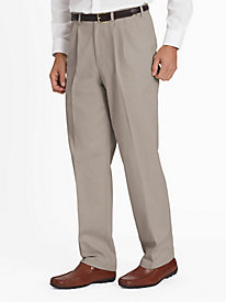 Adjust-A-Band Wrinkle-Resist Pleated Front Chinos by Blair