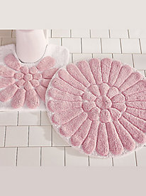 Bursting Flower Bath Rugs