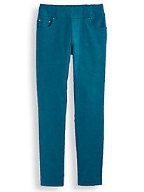 Flat Waist Washed Denim Jeans