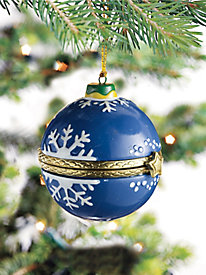 Blue Snowflake Surprise Ornament