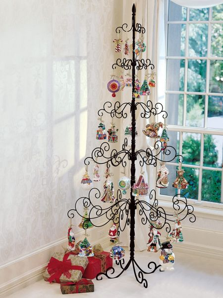 Wrought iron christmas tree metal ornament solutions