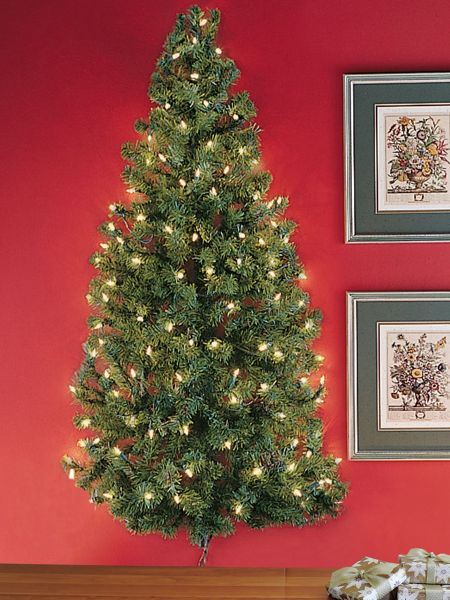 Lighted Wall Tree - Pre-lit Christmas Tree Hangs on Wall Solutions