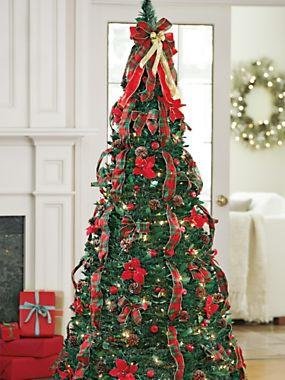 Plaid Pull Up Tree Solutions - Pull Up Christmas Trees