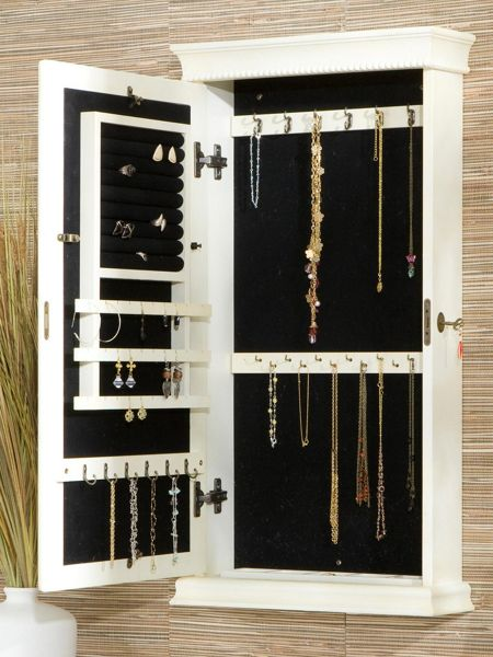 Imperial Wall Mounted Jewelry Cabinet Mirror Jewelry