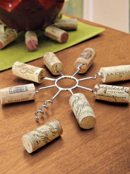 wine cork trivet 8 pronged metal trivet solutions. Black Bedroom Furniture Sets. Home Design Ideas