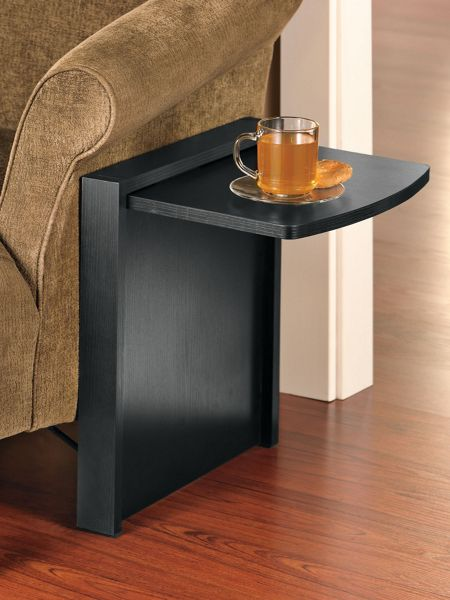 Tuc away fold down table portable sofa side table for Fold away nail table
