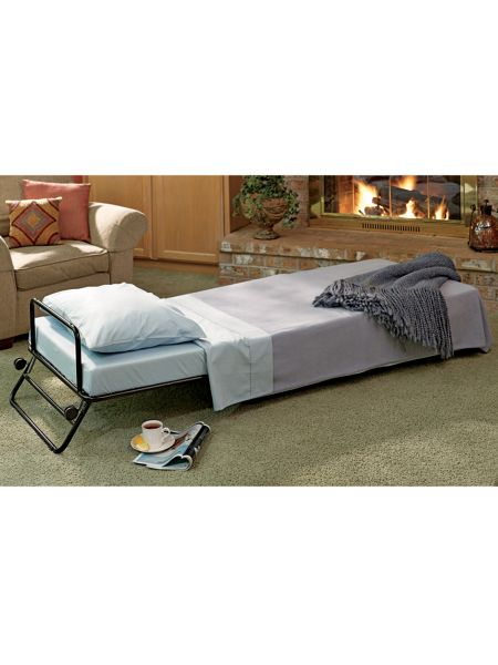 fold out ottoman guest bed fold away bed when the grandkids or guests sleep over solutions. Black Bedroom Furniture Sets. Home Design Ideas