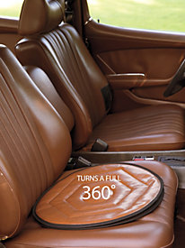 Brown Faux Leather Swivel...