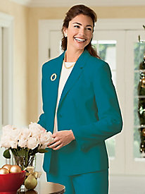 Washable Wool Two-Button Blazer