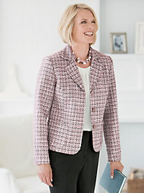 Pink Champagne Tweed Jacket