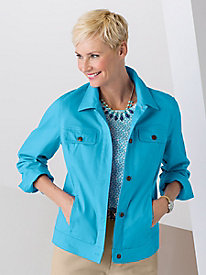Colored Jean Jacket with Stretch