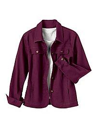 Colored Stretch Denim Jacket