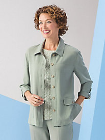 Koret Look-of-Linen Shirt Jacket
