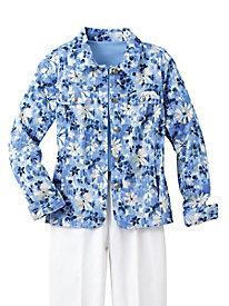 Koret Sun-Washed Floral Jacket