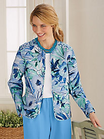 Reversible Watercolor Jacket by Alfred Dunner