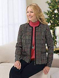 Zip-Front Tweed Jacket by Koret�