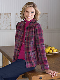 Plaid Boucl� Jacket by Koret�