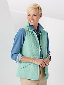 Quilted Reversible Dot Vest