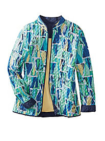 Watercolor Reversible Jacket by Alfred Dunner
