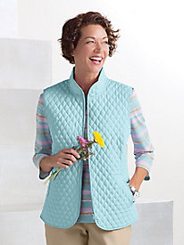 Diamond-Stitch Quilted Vest