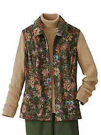 Suedecloth Paisley Print Vest by Koret®