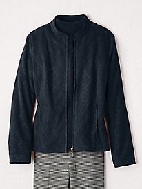 Suedecloth Zip-Front Jacket