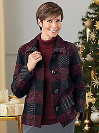 Textured Plaid Jacket by Koret