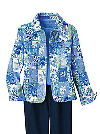 Patch Print Jacket by Koret®