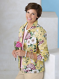 Hydrangea Print Jacket by Koret®
