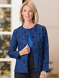 Jacquard Holiday Jacket
