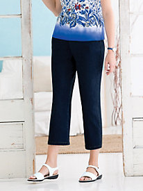 Pull-On Slim Leg Capri