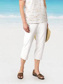 Pull-On Colored Slim Leg Capri