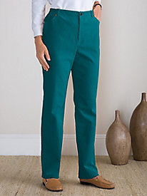Stretch Pincord 5-Pocket Fly-Front Pants