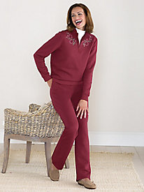 Embroidered Fleece Set by Koret