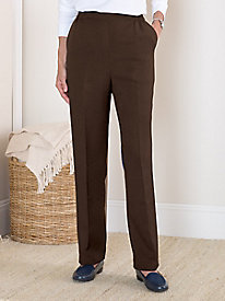 Koret Easy-Care Wool-Luxe Pull-on Pants