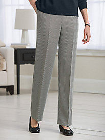 Koret Wool-Luxe Plaid Pull-On Pants