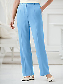 Koret Look-of-Linen Fly Front Pants